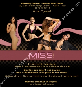 www.toutesvosmarques.com présente : MISS BODY FASHION, CHANTELLE
